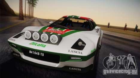Lancia Stratos для GTA San Andreas вид справа