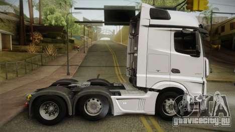 Mercedes-Benz Actros Mp4 6x2 v2.0 Bigspace v2 для GTA San Andreas вид слева