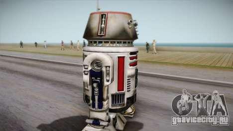 R5-D4 Droid from Battlefront для GTA San Andreas вид сзади слева