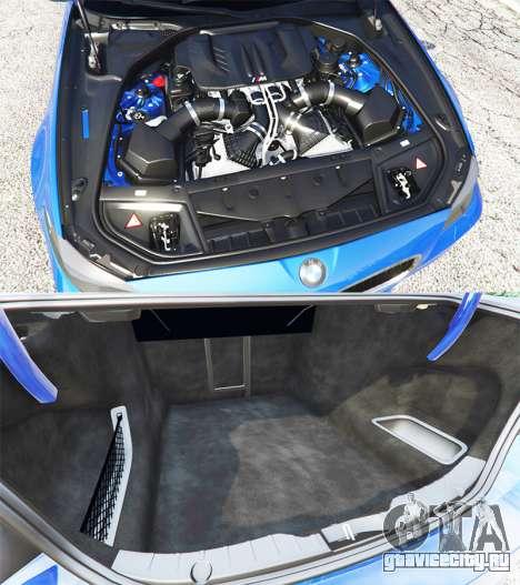 BMW M5 (F10) 2012 [replace] для GTA 5 вид справа