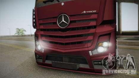 Mercedes-Benz Actros Mp4 4x2 v2.0 Bigspace v2 для GTA San Andreas вид сзади слева