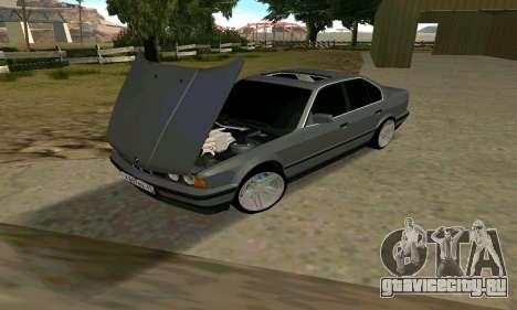 BMW 535i e34 для GTA San Andreas вид сзади