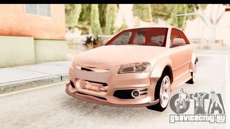 Audi S3 Slaam для GTA San Andreas вид справа