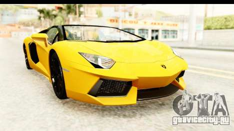 Lamborghini Aventador LP700-4 Roadster v2 для GTA San Andreas вид справа