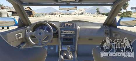 Nissan Skyline GT-R V-Spec R34 для GTA 5 вид сзади слева