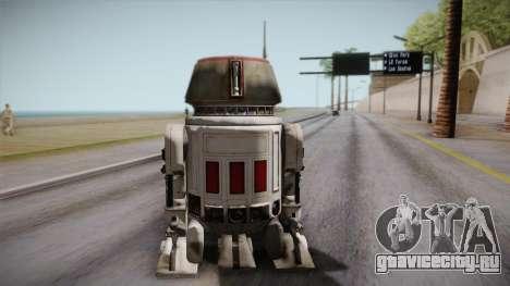 R5-D4 Droid from Battlefront для GTA San Andreas вид слева