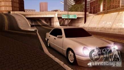 Mercedes-Benz E420 чёрный для GTA San Andreas