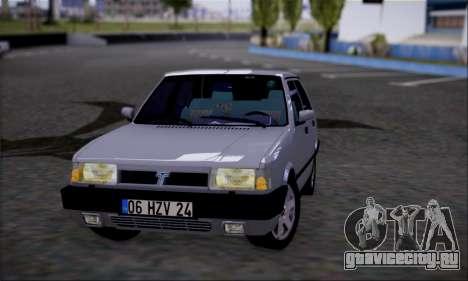 Tofas Dogan SLX 1.6 i.e для GTA San Andreas вид сзади слева