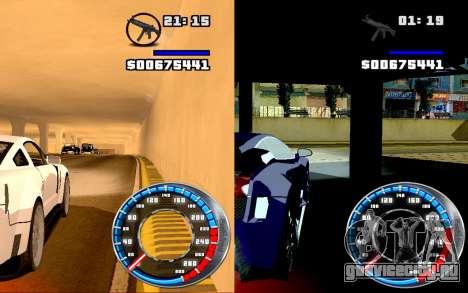 Спидометр GTA SA Style V4x3 для GTA San Andreas третий скриншот