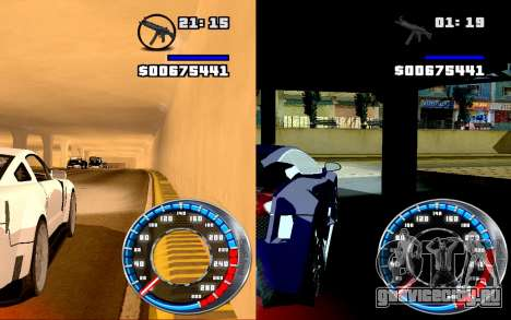 Спидометр GTA SA Style V16x9 (widescreen) для GTA San Andreas третий скриншот