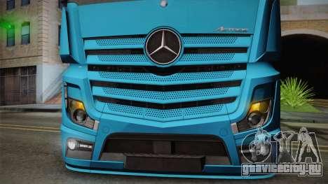 Mercedes-Benz Actros Mp4 6x2 v2.0 Gigaspace для GTA San Andreas вид сзади