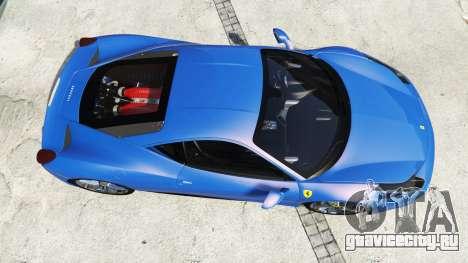 Ferrari 458 Italia v2.0 [replace] для GTA 5 вид сзади