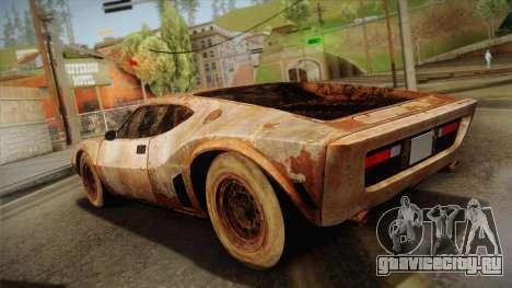 AMC AMX 3 39 1970 Rust для GTA San Andreas вид слева
