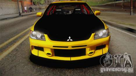 Mitsubishi Lancer Evolution IX Tuned для GTA San Andreas вид сзади слева