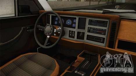 Jeep Grand Wagoneer Limite 1986 для GTA San Andreas вид изнутри