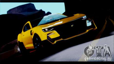 Chevrolet Camaro SS 2016 Bumblebee TF 5 для GTA San Andreas вид сзади