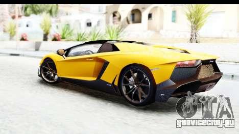 Lamborghini Aventador LP720-4 Roadster 2013 для GTA San Andreas вид слева