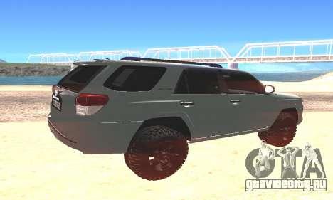 Toyota 4Runner для GTA San Andreas вид слева