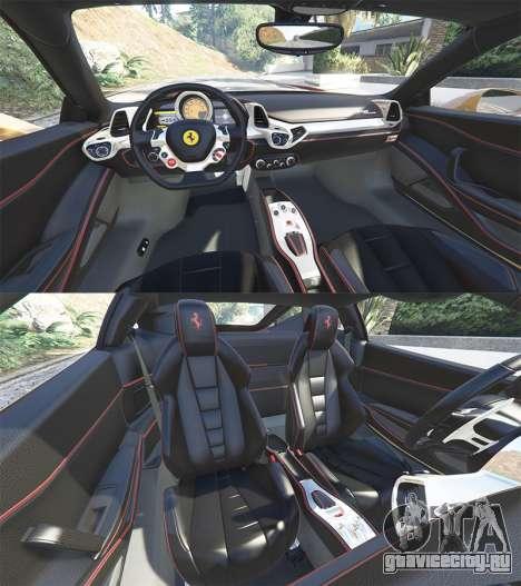 Ferrari 458 Italia [add-on] для GTA 5 вид спереди справа