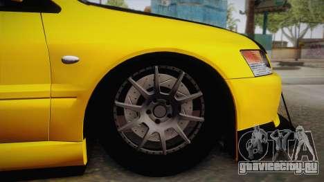 Mitsubishi Lancer Evolution IX Tuned для GTA San Andreas вид справа