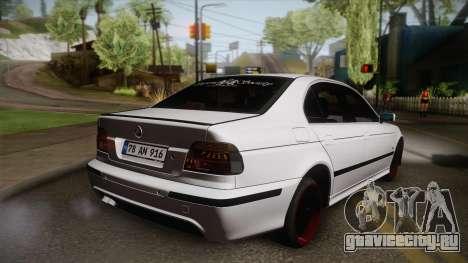 BMW M5 E39 Turbo King для GTA San Andreas вид слева