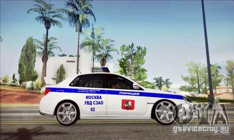 Subaru Impreza WRX STI Police для GTA San Andreas вид справа