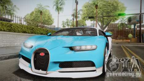 Bugatti Chiron 2017 для GTA San Andreas вид сбоку