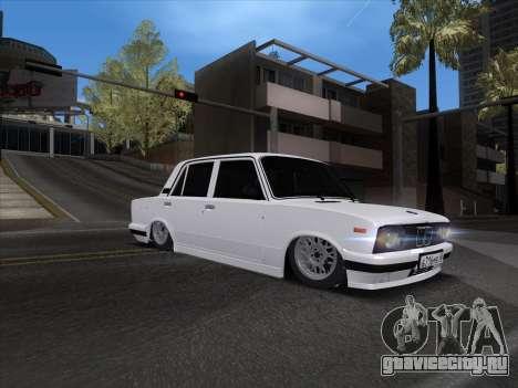 VAZ 2106 для GTA San Andreas вид сзади