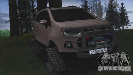 Ford Ecosport Off-Road для GTA San Andreas вид сзади слева
