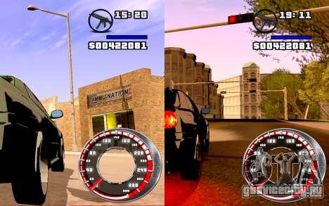 Спидометр GTA SA Style V16x9 (widescreen) для GTA San Andreas