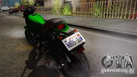 GTA 5 Pegassi Esskey IVF для GTA San Andreas вид сзади слева