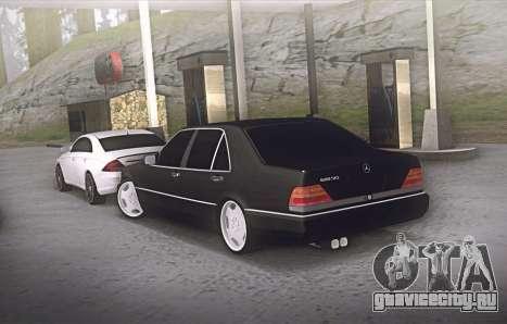 Mercedes-Benz W140 600sel для GTA San Andreas вид сзади слева