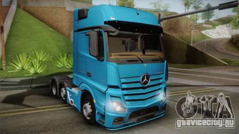 Mercedes-Benz Actros Mp4 6x2 v2.0 Gigaspace для GTA San Andreas