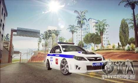 Subaru Impreza WRX STI Police для GTA San Andreas
