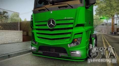 Mercedes-Benz Actros Mp4 6x2 v2.0 Bigspace для GTA San Andreas вид сзади