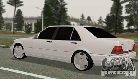 Mercedes-Benz W140 600sel для GTA San Andreas вид слева