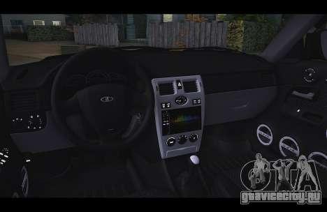 Lada Priora Такси-Ветер для GTA San Andreas вид слева