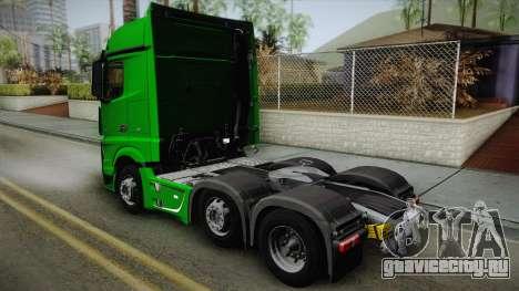 Mercedes-Benz Actros Mp4 6x2 v2.0 Bigspace для GTA San Andreas вид слева