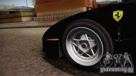 Ferrari F40 (US-Spec) 1989 IVF для GTA San Andreas вид сзади