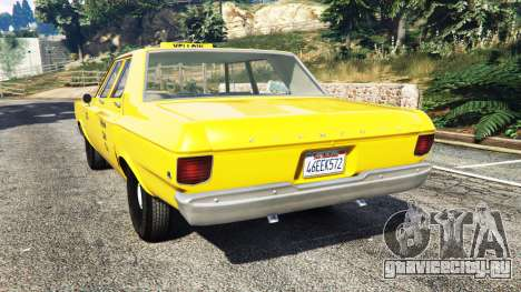 Plymouth Belvedere 1965 Taxi [replace] для GTA 5 вид сзади слева