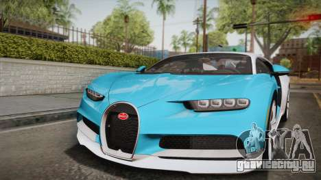 Bugatti Chiron 2017 для GTA San Andreas вид сверху