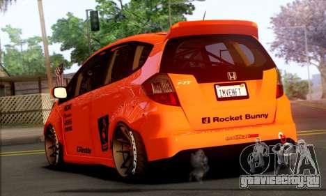 Honda Fit 2009 Rocket Bunny для GTA San Andreas вид слева