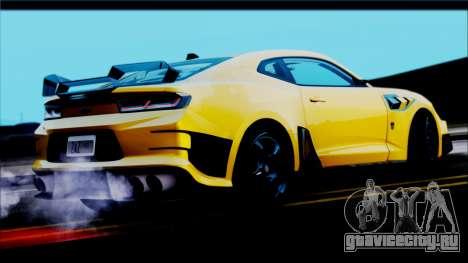 Chevrolet Camaro SS 2016 Bumblebee TF 5 для GTA San Andreas вид слева