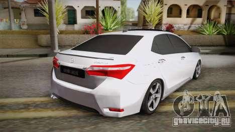 Toyota Corolla 2015 для GTA San Andreas вид слева