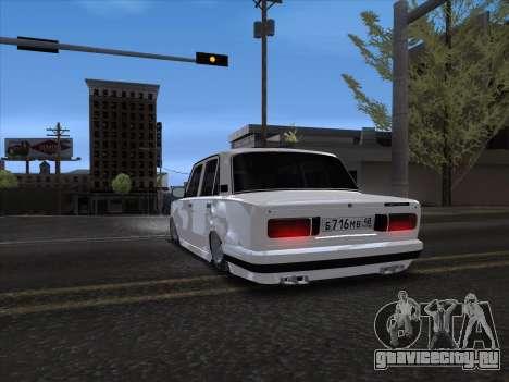 VAZ 2106 для GTA San Andreas вид сзади слева