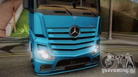 Mercedes-Benz Actros Mp4 6x2 v2.0 Gigaspace для GTA San Andreas вид сзади слева