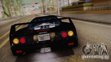Ferrari F40 (US-Spec) 1989 IVF для GTA San Andreas вид изнутри