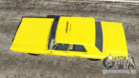 Plymouth Belvedere 1965 Taxi [replace] для GTA 5 вид сзади