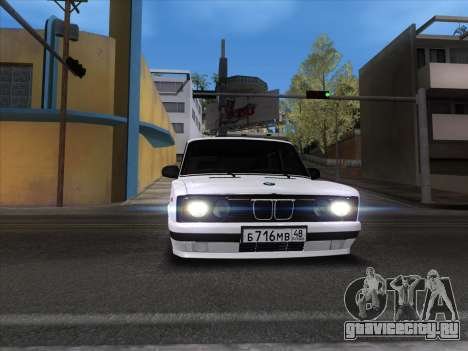 VAZ 2106 для GTA San Andreas вид изнутри