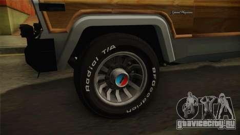 Jeep Grand Wagoneer Limite 1986 для GTA San Andreas вид сзади
